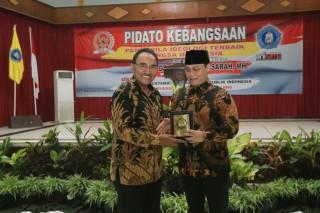 Wakil Ketua Pimpinan MPR RI DR. Ahmad Basarah.  MH Mengisi Pidato Kebangsaan di Universitas Kanjuruhan Malang, Jawa Timur (Rabu, 3 April 2019)