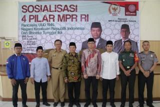 Wakil Ketua MPR RI Hidayat Nur Wahid Menghadiri Sosialisasi 4 Pilar di Kecamatan Cileungsi, Bogor (Senin, 8 Juli 2019)