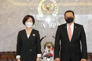 Ketua MPR H. Bambang Soesatyo, S.E., M.B.A., menerima delegasi parlemen Korea Selatan
