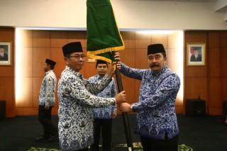 Pengukuhan Dewan Pengurus KORPRI Sekretariat Jenderal MPR RI Masa Bakti 2019-2024 di Ruang Delegasi, Jakarta (Rabu, 24 April 2019)