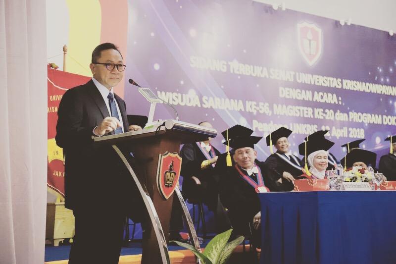 Zulkifli Hasan : Pendidikan Hak Warga, Kewajiban Negara